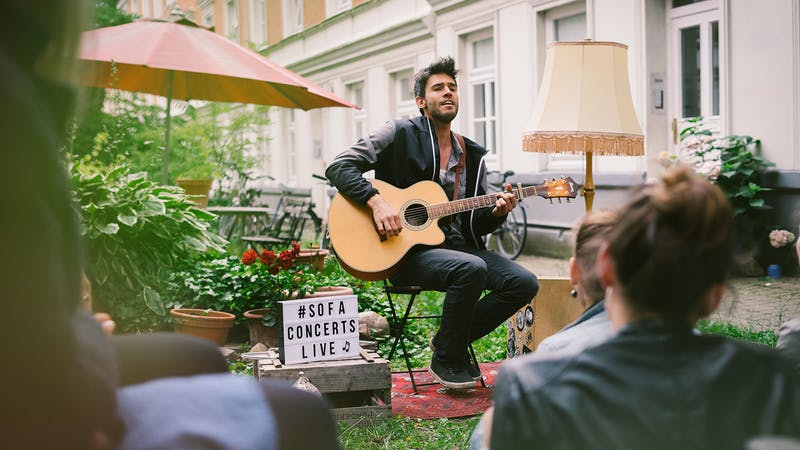 Konzert mit SofaConcerts im Freien