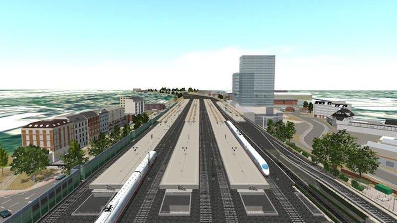Planungsentwurf Fernbahnhof Altona