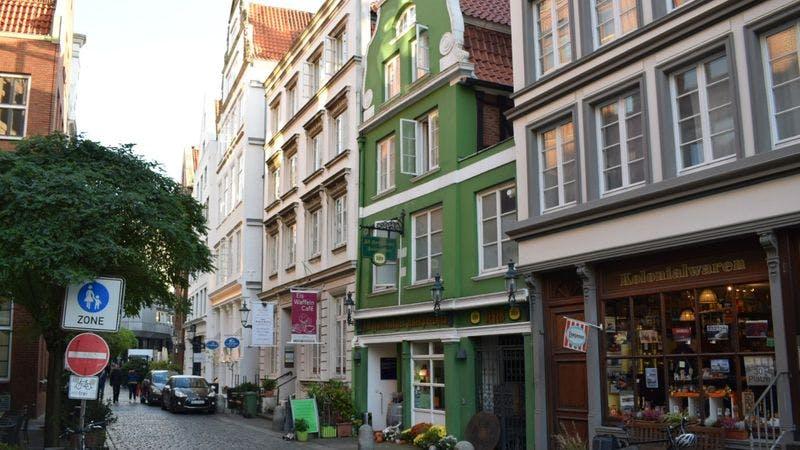 Blick in die historische Deichstraße in Hamburg