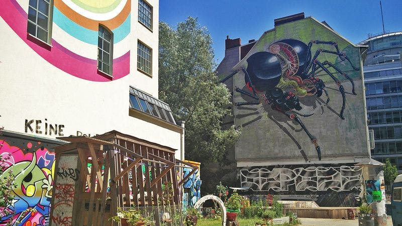 Graffiti im Hamburger Gängeviertel