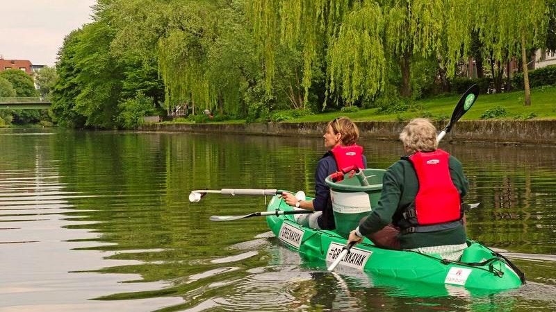 Kayak, Kanu, Kanal, Umweltschutz, Naturschutz, cleanup, sauber