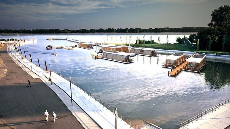 Visualisierung Hausboote in Wedel