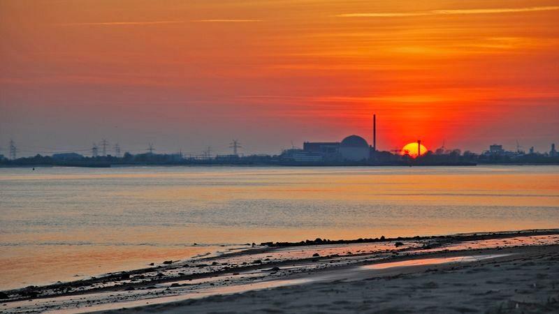 Sonnenuntergang an der Hetlinger Schanze