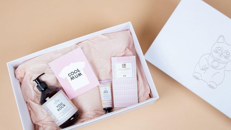 Geschenkbox Muttertag Frau Hansen