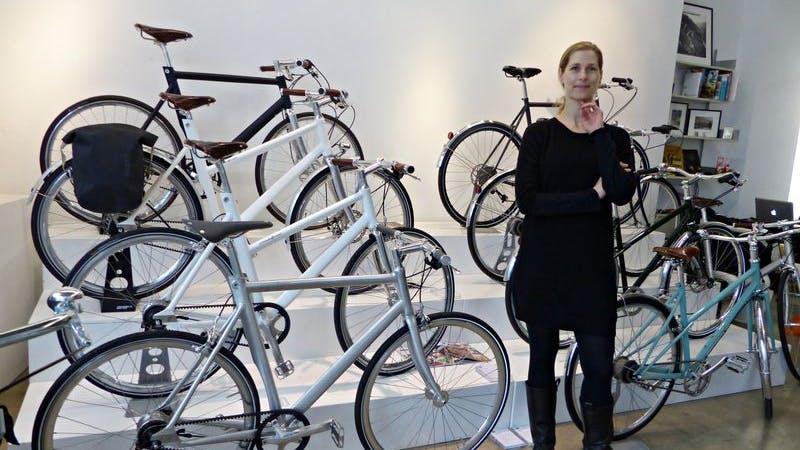 Im Bike Shop 'Two Wheels Good' von Dorothee Heine gibt es Fahrräder bis 5000 Euro.