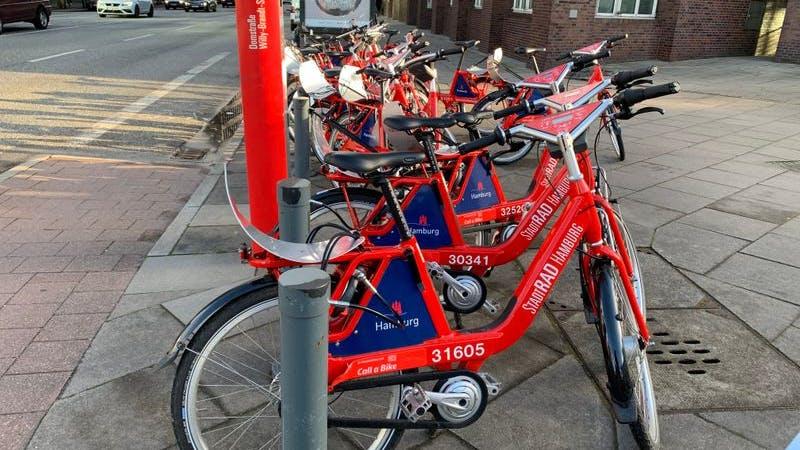 Stadtrad, stadtradstation, Hamburg, Fahrrad