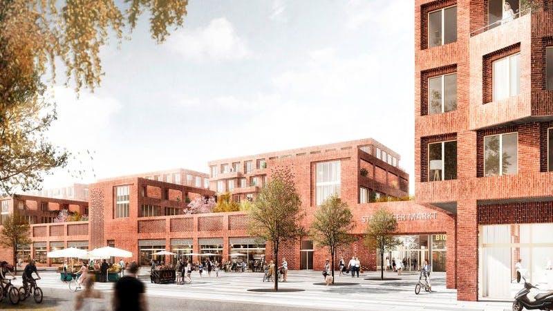 Visualisierung für das neue Stadtteilzentrum Stellingen
