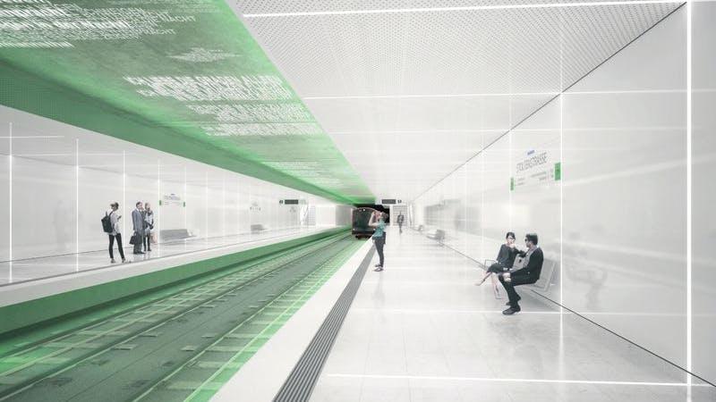 Stoltenstraße, die neue U4-Haltestelle