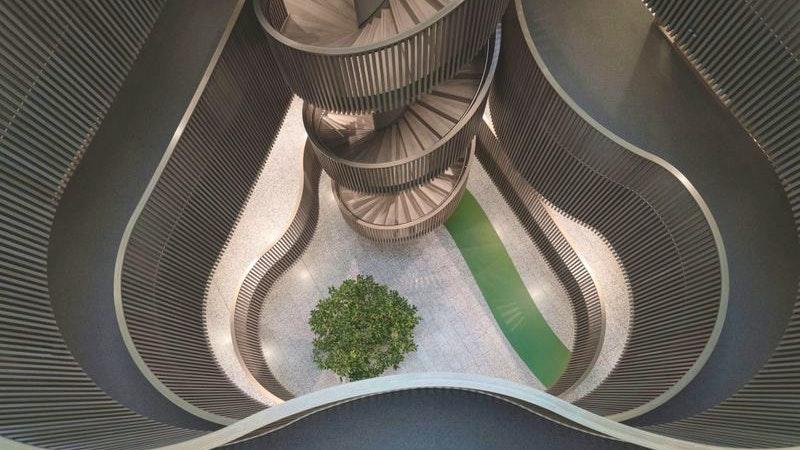 Wilhelmsburg, staircase, Treppenhaus