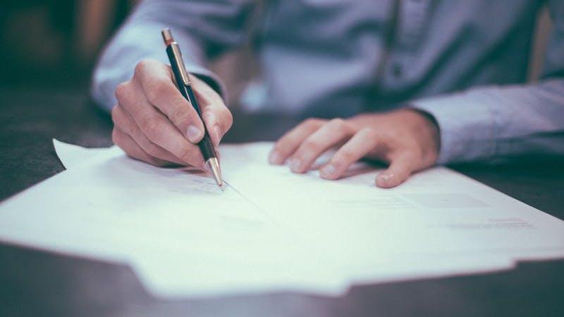 Vertrag, Unterschrift, Bewilligung, Entscheid