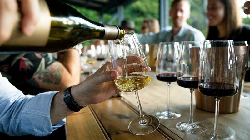 Vino, Wein, Terrasse