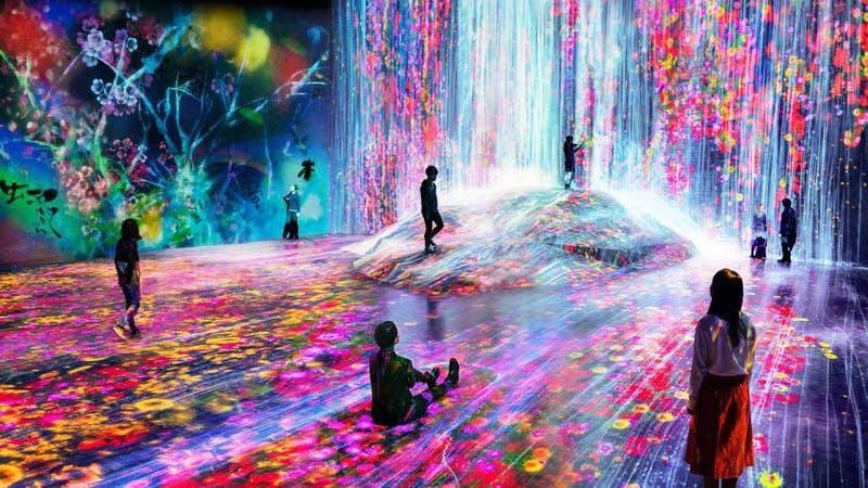 Teamlab Borderless Digital Art Museum in Tokyo