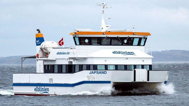 Fähre Japsand auf der Elbe