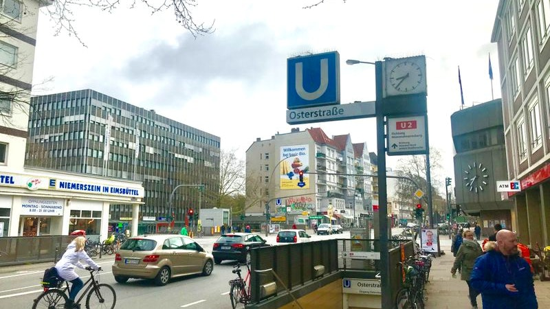 Eimsbüttel ist besser als Winterhude. Auf dem Bild ist die Osterstraße zusehen.