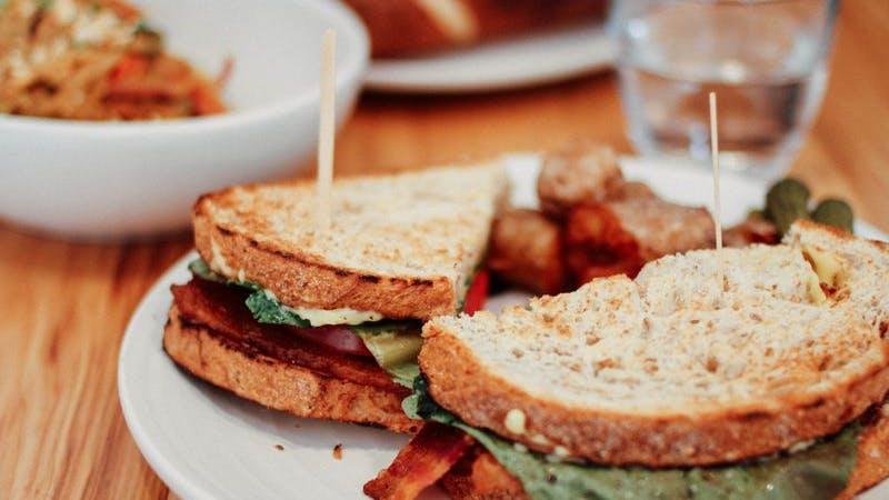 Sandwich, Essen, günstige Restaurants, Teller, Brot