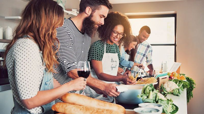 Kochschule Hamburg, Kochschule, Kochkurs, Gemüse, Brot, gemeinsam Kochen, kochen mit Freunden