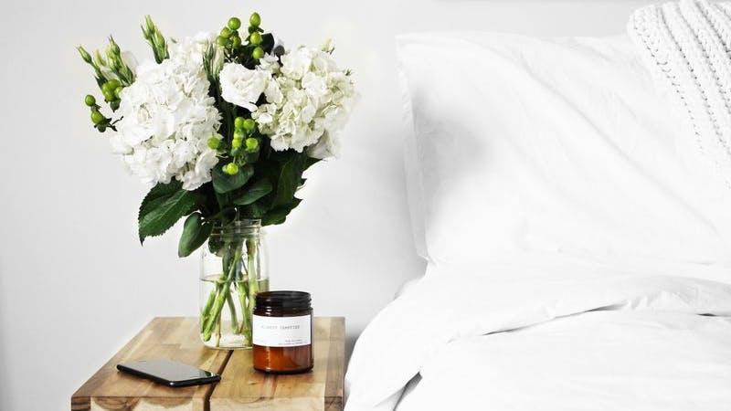 Bett Blumen