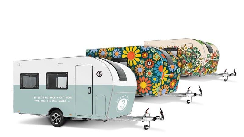 Pierdrei Hotel HafenCity Campingwagen