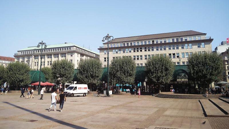 Der Hamburger Rathausmarkt