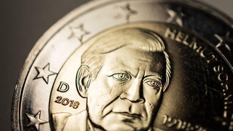 Helmut Schmidt auf Münze