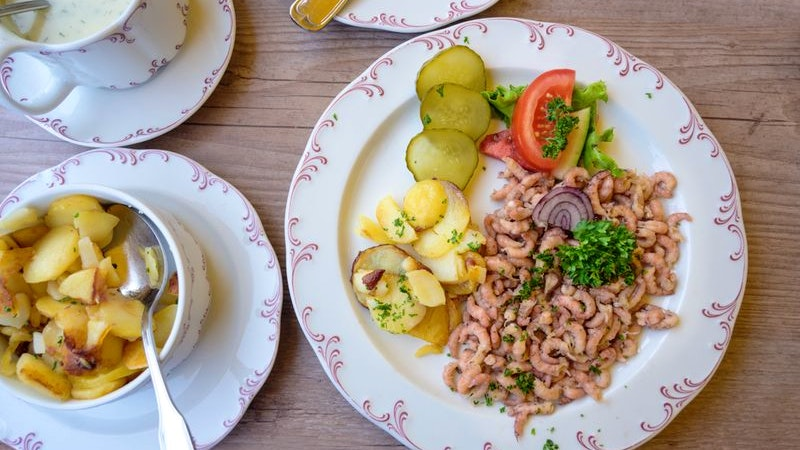 Essen, Norddeutsch, Krabben