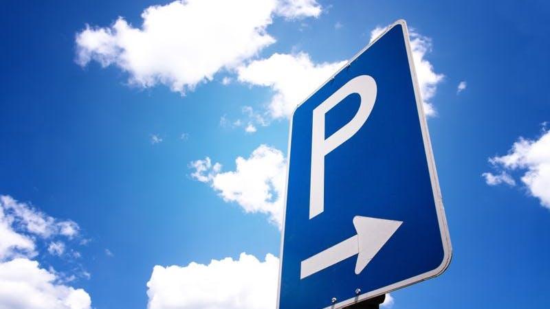 Parkplatz.-Schild