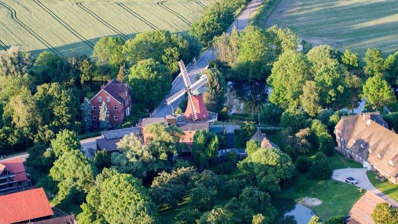 Windmühle in Bergedorf