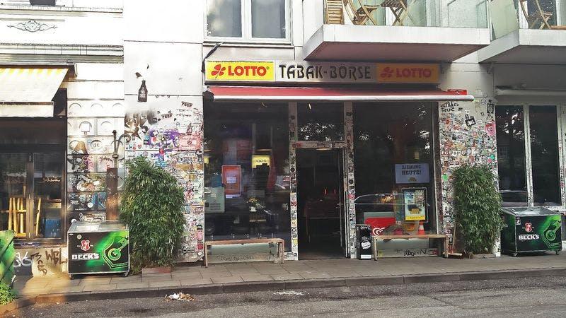 Kiosk Tabakbörse in der Hamburger Schanze