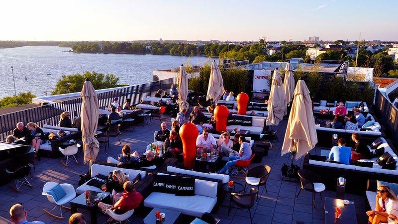 Rooftop-Bar Hamburg Campari Lounge