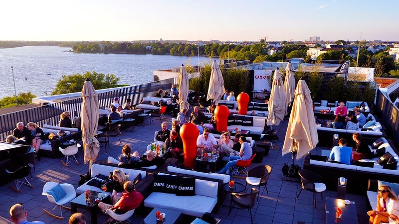 Rooftop-Bar Hamburg Campari Lounge