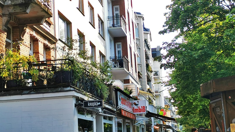 Hamburger Stadtteil Hoheluft-West Eppendorfer Weg