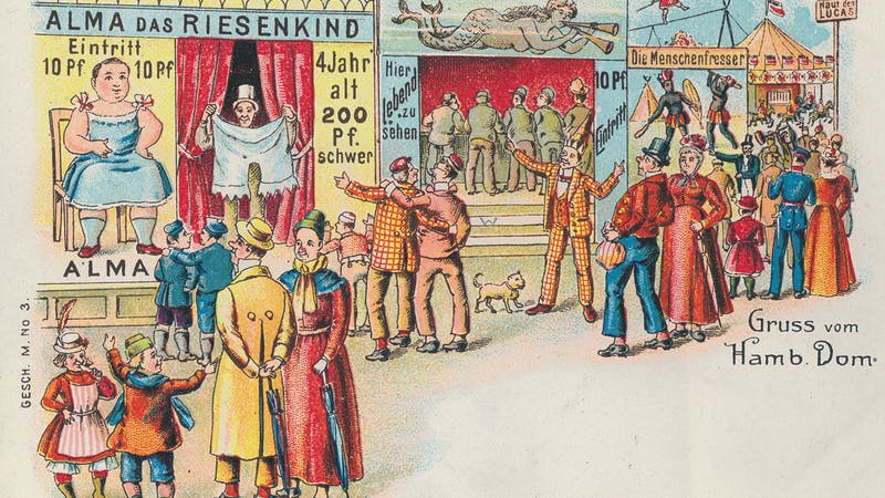 Hamburger DOM historisch Postkarte