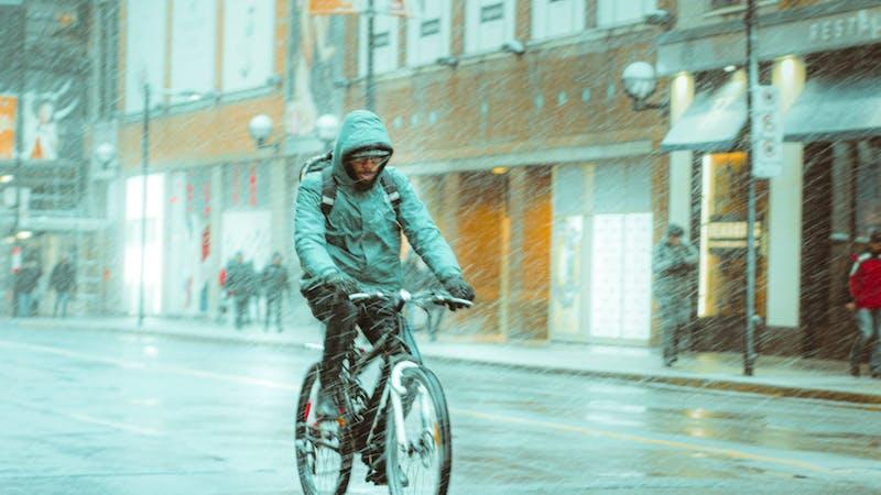 Regen, Sturm, Fahrrad