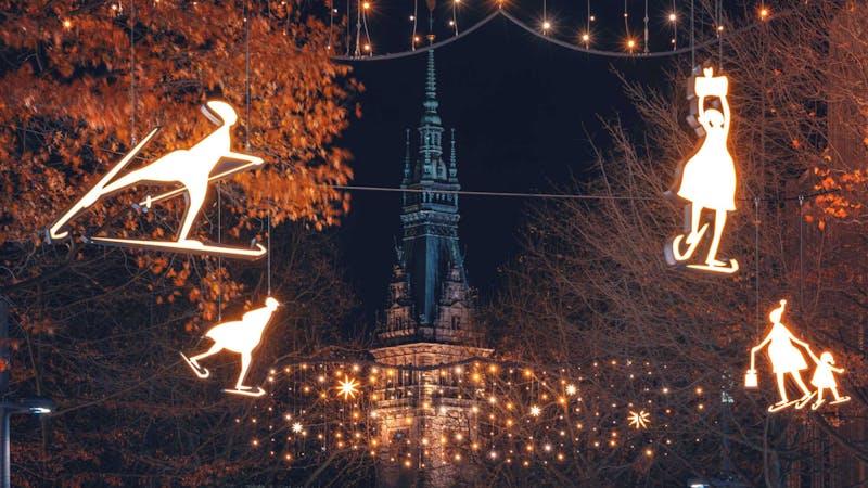 Weihnachtsbeleuchtung in Hamburg