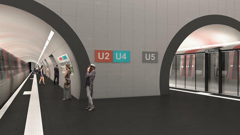 Visualisierung der Station U5 am Hauptbahnhof
