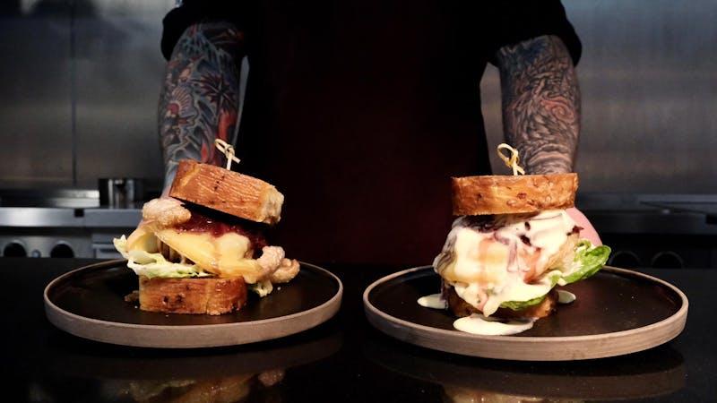 Sandwiches im Restaurant Granat