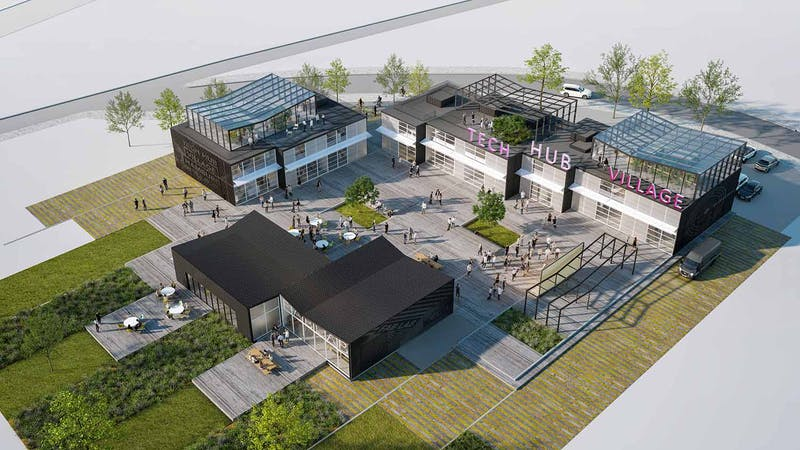Visualisierung Gründerzentrum tecHHub in Altona