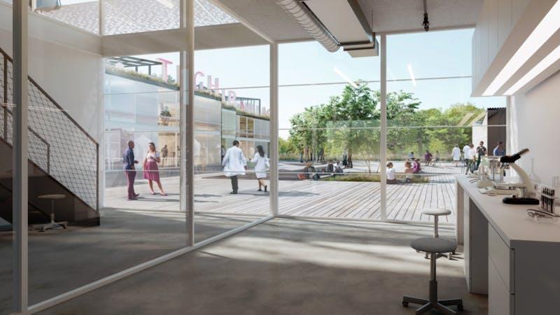 Visualisierung Gründerzentrum tecHHub Innenräume