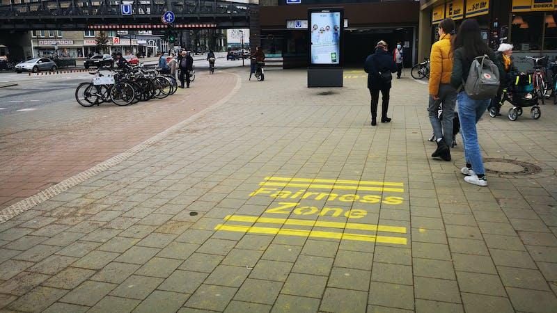 Fairness-Zone U-Bahnstation Hoheluftbrücke