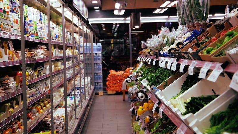 Gang im Supermarkt