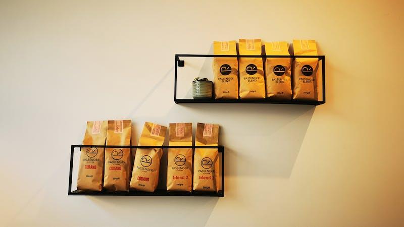 Kaffeebohnen verpackt von passenger coffee