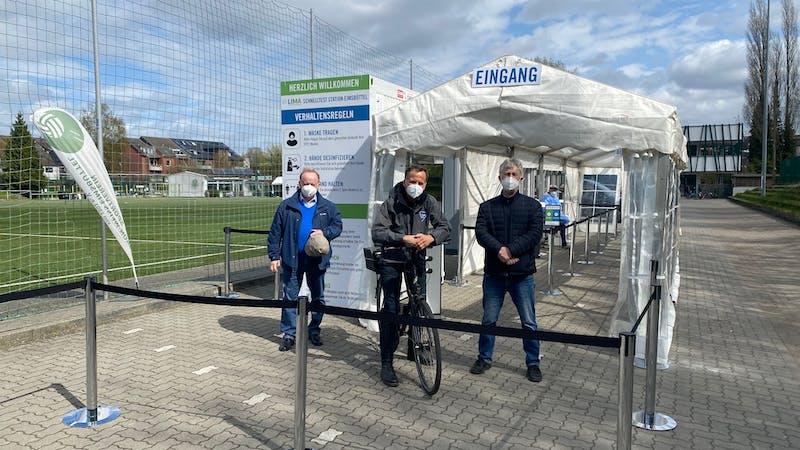 Eröffnung des Corona-Testzentrums in Eimsbüttel