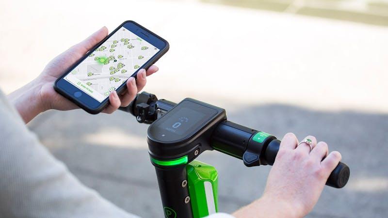 App und E-Scooter von Lime