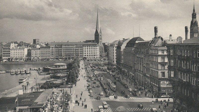 Jungfernstieg in den 1950er-Jahren