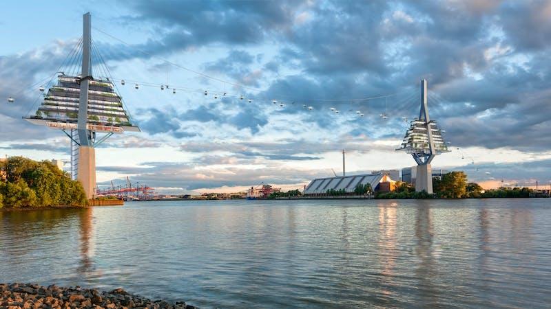 Köhlbrandbrücke Pylone Entwurf