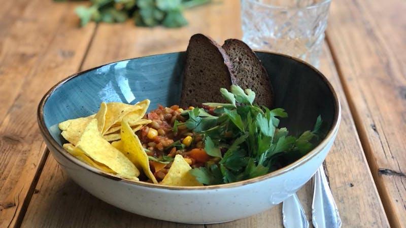 Veganes Gericht im Café Nao