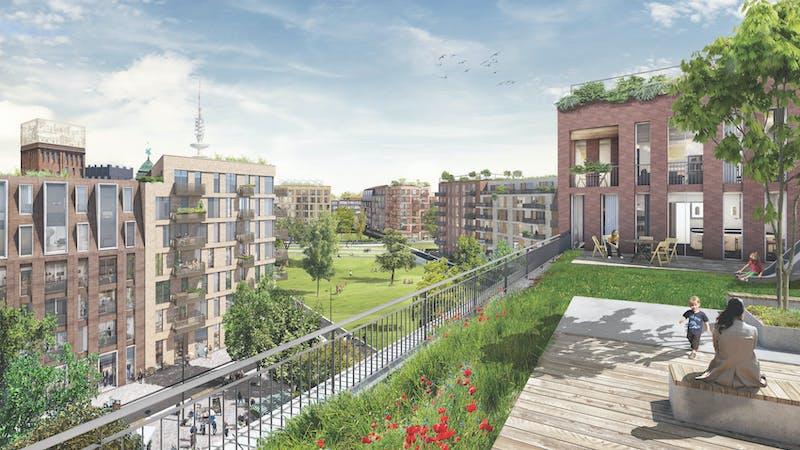 Holsten-Quartier Perspektive Dachlandschaften