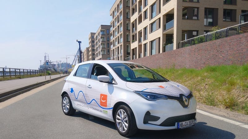 Fahrzeug von cambio-Carsharing in der HafenCity