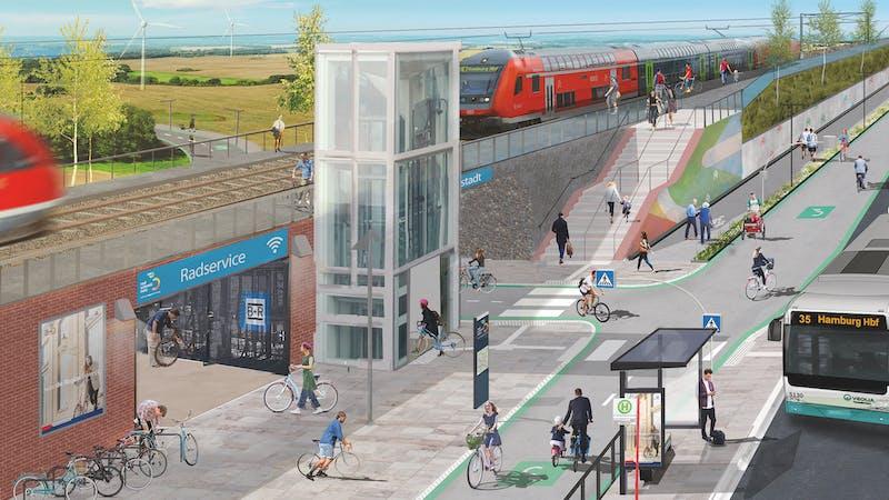 Visualisierung Radschnellweg Metropolregion Hamburg