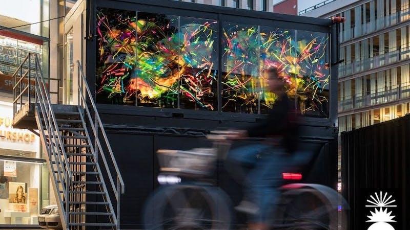 KunstContainer in der Ottenser Hauptstraße